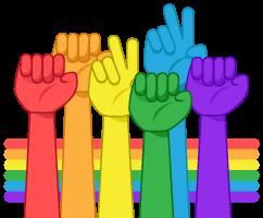 Silloth Pride colored hands graphic